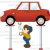 自動車整備士のイラスト