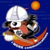 バーニーズマウンテンドッグのキャラクターイラストとロゴ