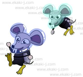 潜水服のダイバーネズミ