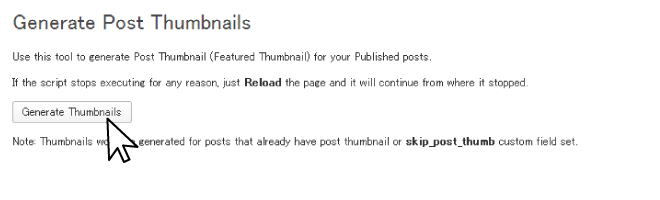 Generate Post Thumbnails