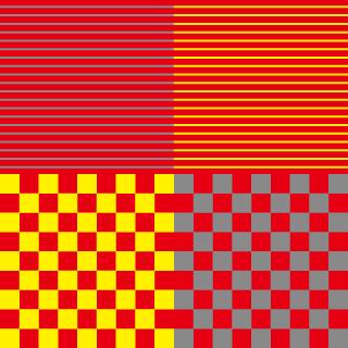 彩度の同化現象