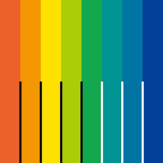 色相の縁辺対比